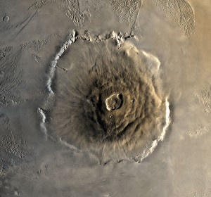 A composite Viking orbiter image of Olympus Mons. Image Credit: NASA