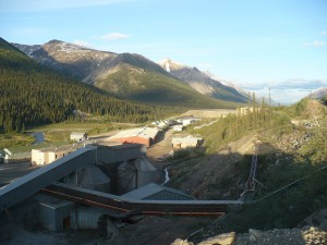 The Cantung Tungsten Mine in the Northwest Territories.
