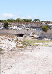 Limestone quarry at Robben Island - dating back to min-17th Century CC BY 2.0 Meraj Chhaya on flickr