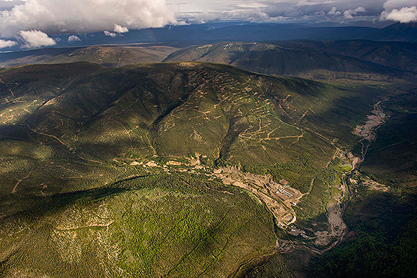 Aerial view of Victoria Gold's Eagle Gold Project site.