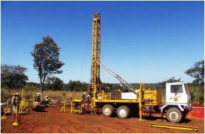 Drilling at the Kakula Discovery area May 2016.