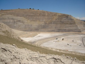 Open pit gypsum mine in Gypsum, Colorado