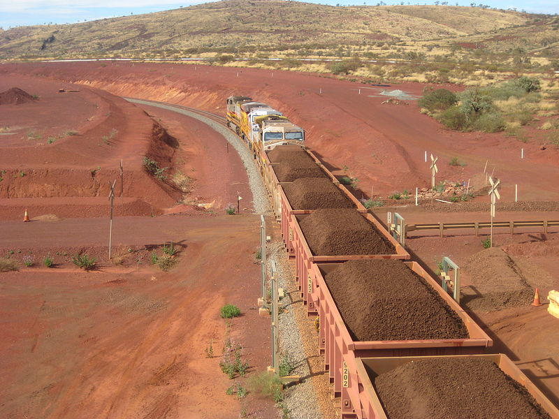 Iron Ore Train Leaving Brookman Mine, Pilbara Image: CC