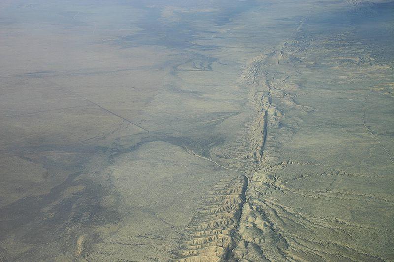 San Andreas Falut, California. Image CC