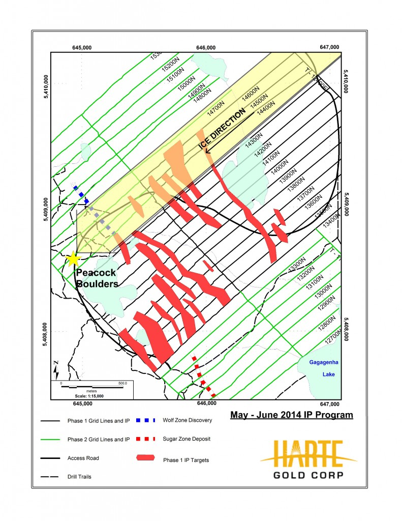 2014 IP Map of Sugar Zone Property - Harte Gold