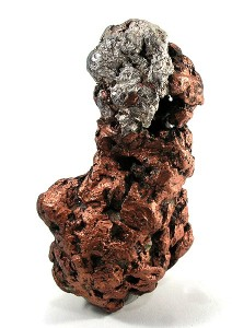 Native copper and silver from Northern Michigan, USA.