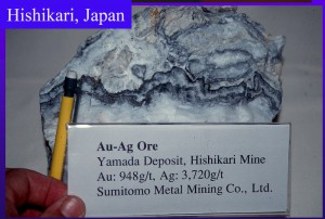 "High grade ""Ginguro"" Silver-Black ore from the Hishikari Mine - Greg Corbett Terry Leach Symposium"