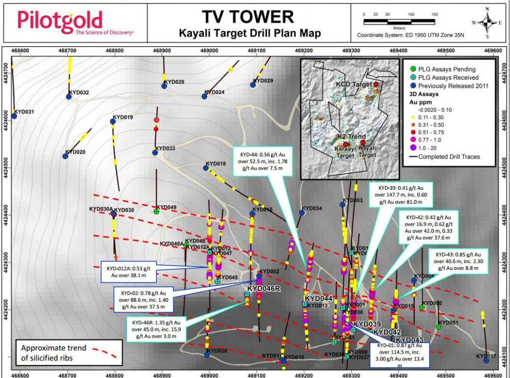 Pilot Gold's TV Tower drill map.