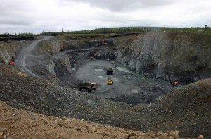 Kittila open cut mine in Finland.
