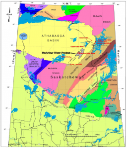 Regional Geology map of the Athabasca Basin