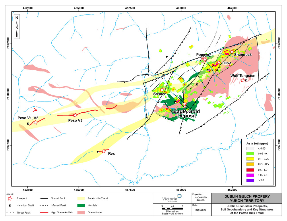 The Potato Hills Trend and associated satellite deposits