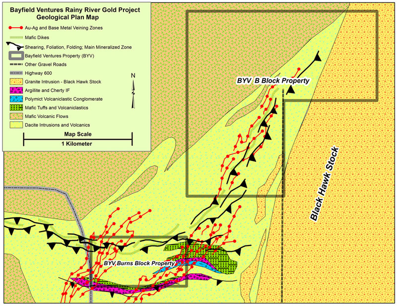 Rainy River district geology map