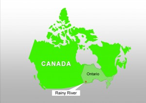 Location of the Rainy River district