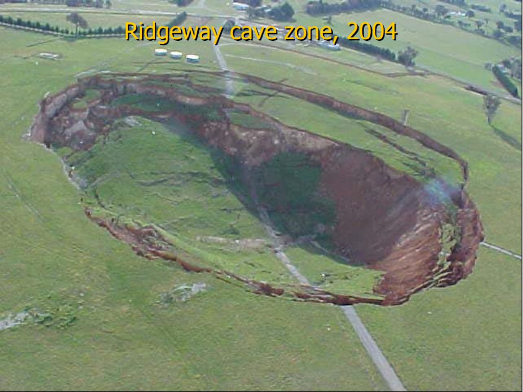 Block Cave subsidence at the Ridgeway deposit NSW Australia