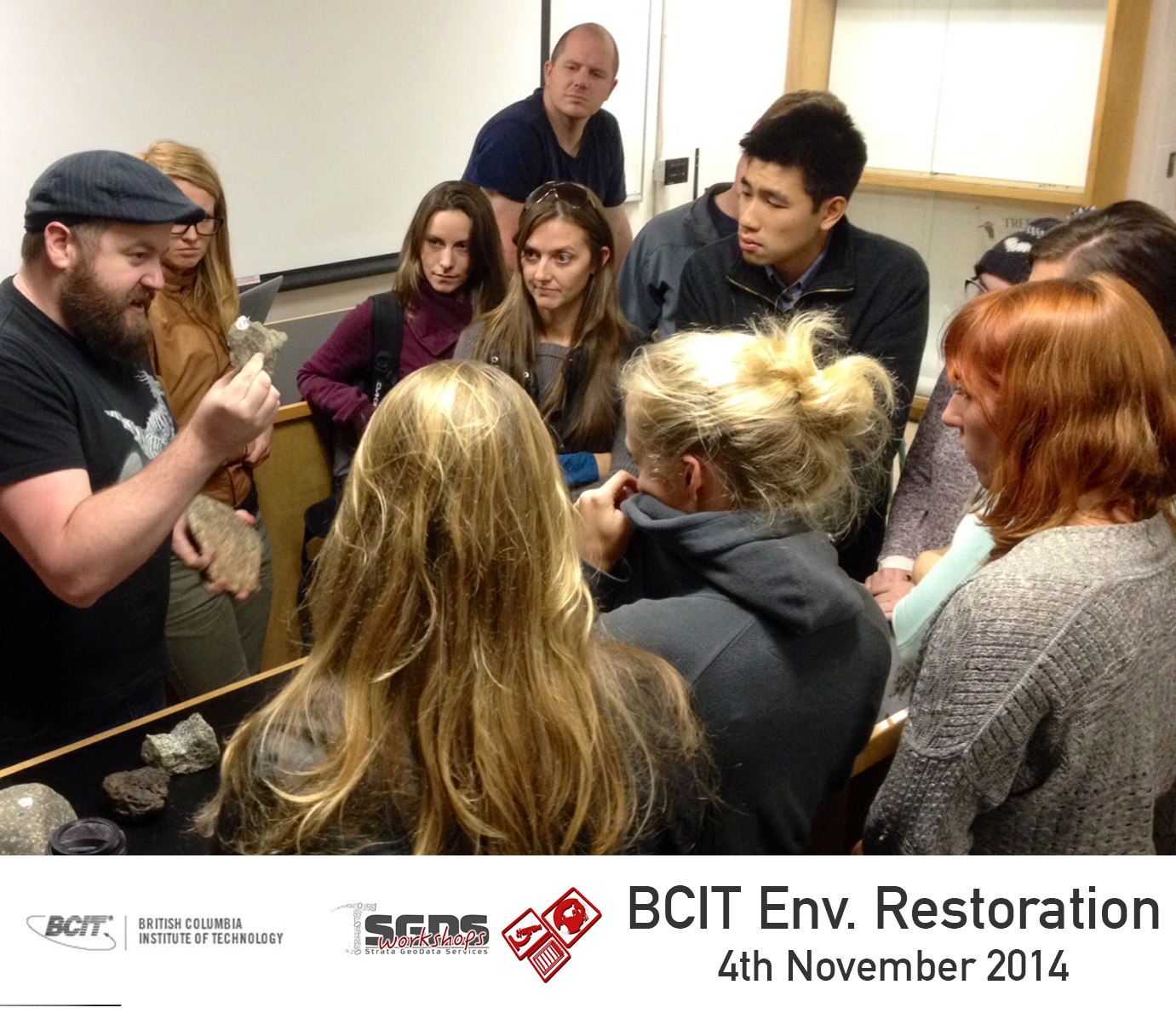Andy Randell talks to Environmental Restoration students at BCIT about geology, mining and permitting