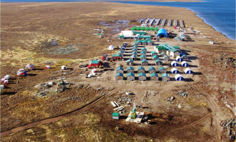 Goose Camp at Sabina's Back River Project in Nanavut, Canada