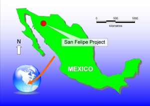 Location of the San Felipe project in Mexico
