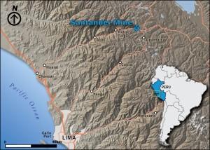 Location of the Santander Mine, Peru