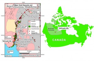 Location of the Northbelt property in the Yellowknife gold camp, Northwest Territories