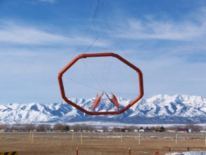 Flying spider web: the airborne loop of the ZTEM system (Geotech)