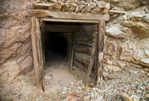 Abandoned underground mine entrance in California.