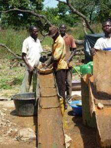 Sluice at use in gold recovery (Burkina Faso)