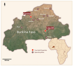 True Gold's projects in Burkina Faso