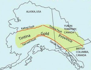 The Tintina Gold Province is bordered by two large fault systems and hosts many gold deposits of varying types.